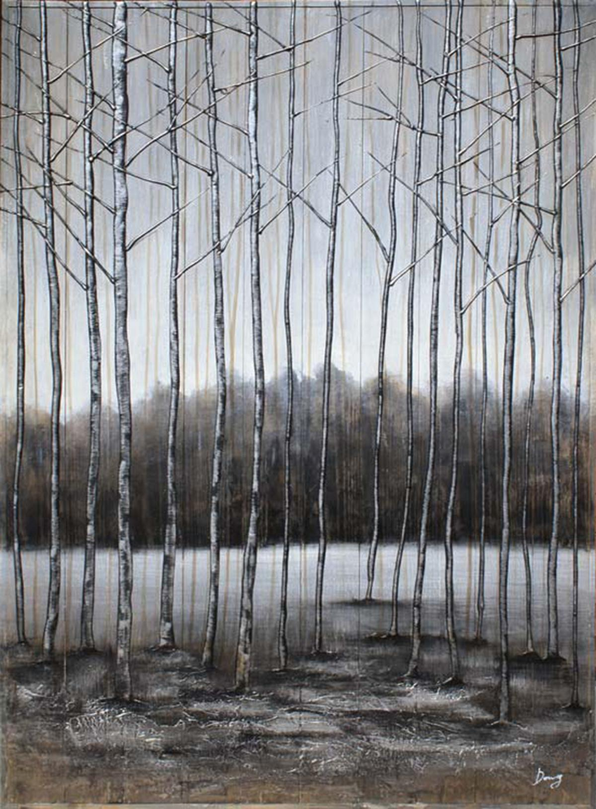 """Decor Art - """"The Icy Forest"""" on Barn Board"""