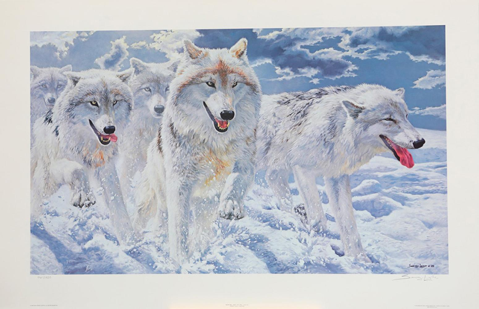 "John Seerey-Lester's ""Night Run - Arctic Wolves"" Limited Edition Print"