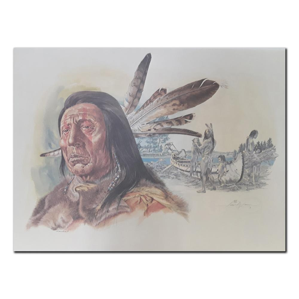 """Ivan Kocsis' """"Ontario Hurons Of The 1600s"""" Limited Edition Print"""