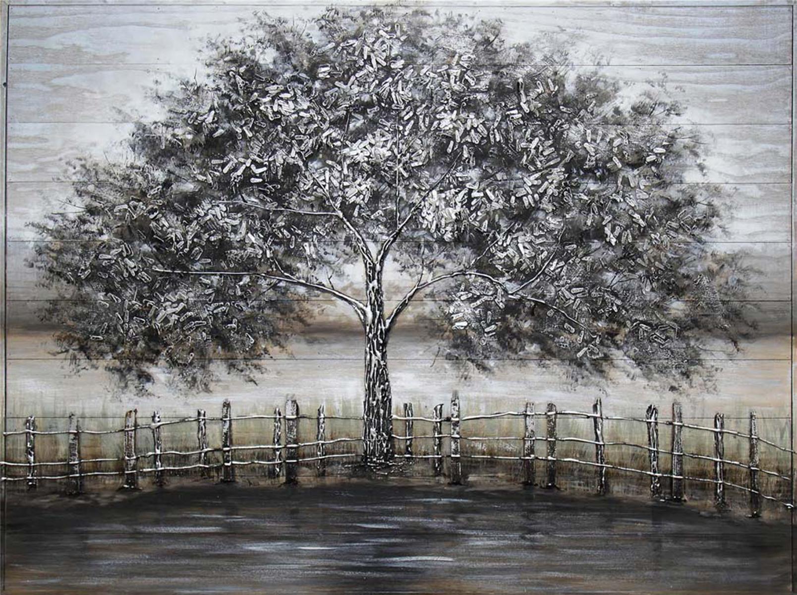 """Decor Art - """"Misty Leaves"""" on Barn Board"""