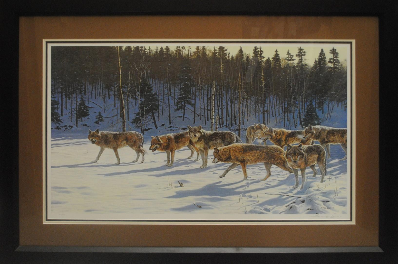 """John Seerey-Lester's """"The Gathering- Gray Wolves"""" Limited Edition Print"""