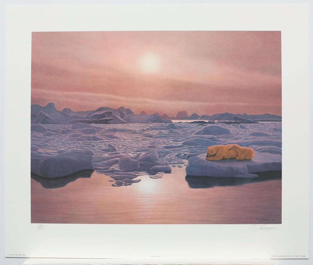"""Lorenzo Fracchetti's """"Sea Ice Sunset"""" Limited Edition Print Signed and Numbered"""