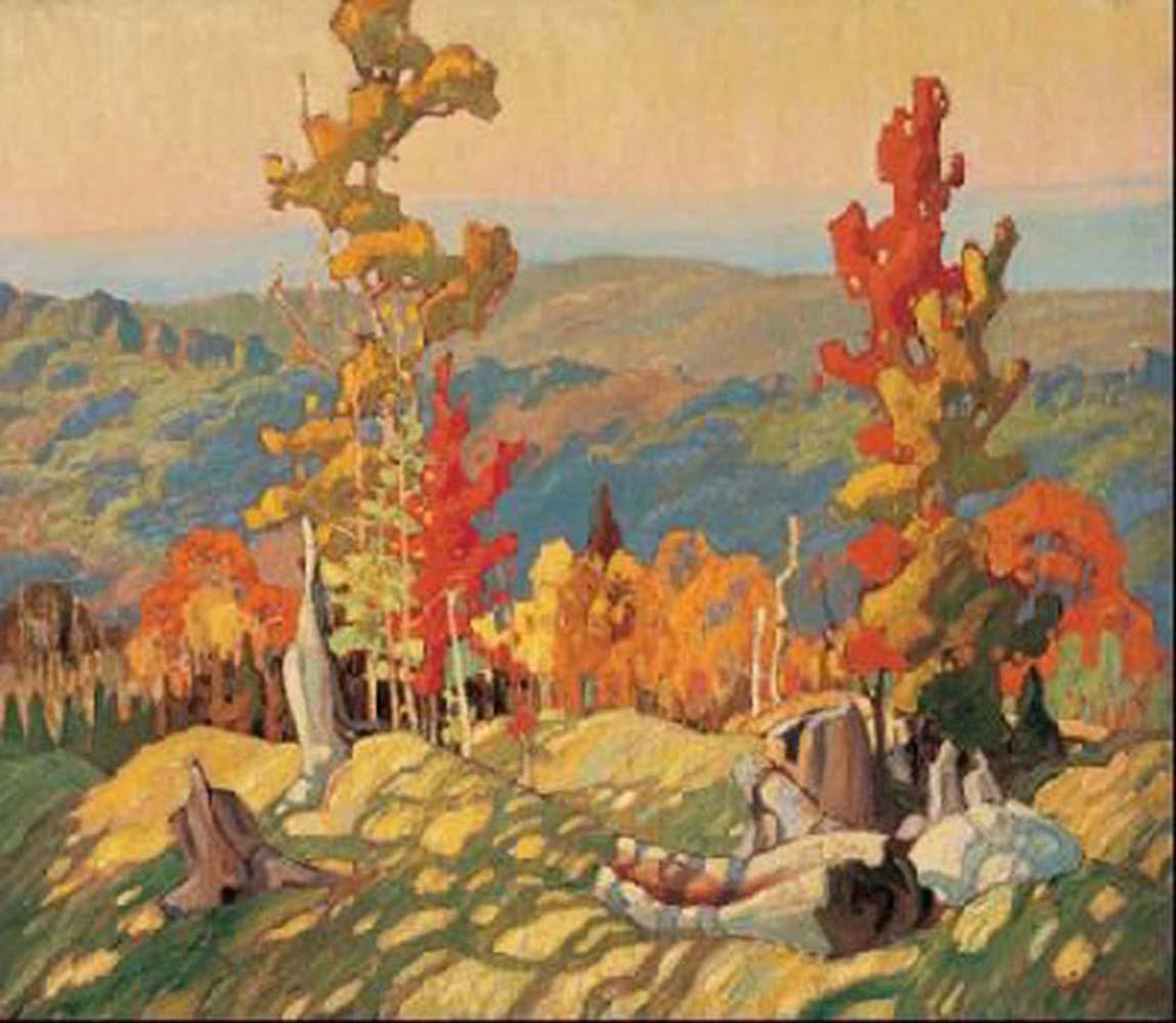 """Franklin Carmichael's """"Autumn in Northland"""" Giclee Canvas"""