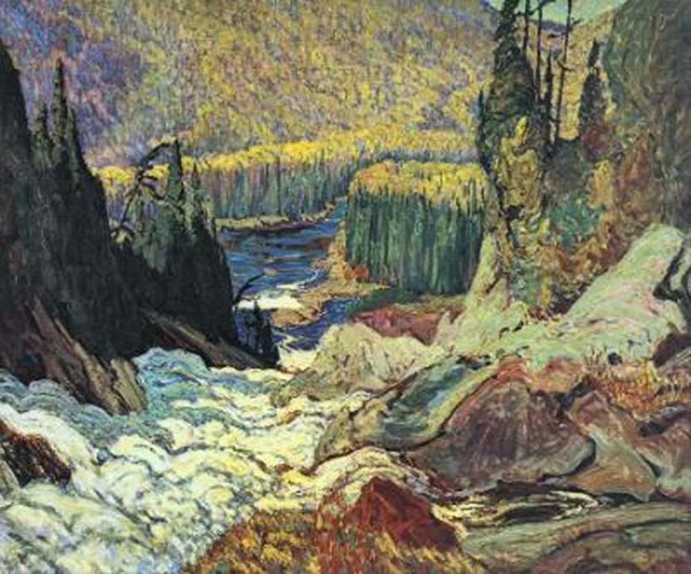 "J.E.H. MacDonald's ""Montreal River"" Giclee Canvas"