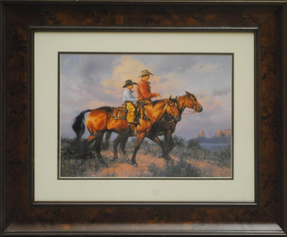 Western Themed Open Edition Print