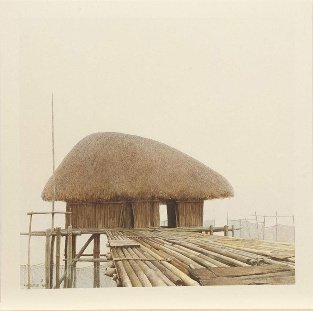 "Mo Dafeng's ""Fishing Hut"" Limited Edition Print"
