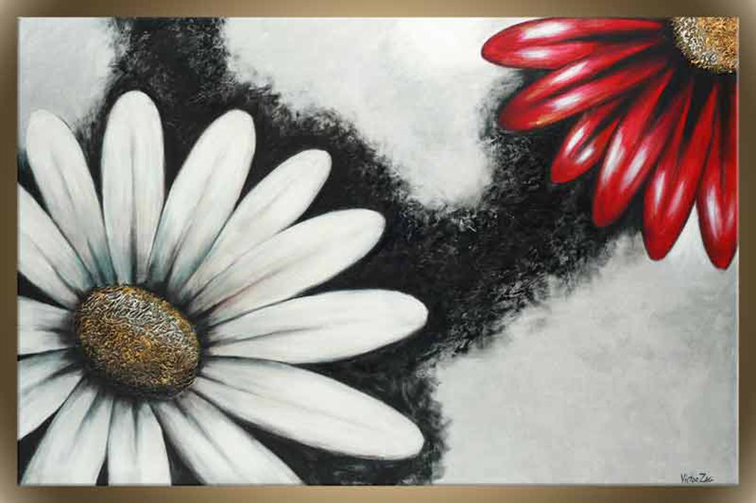 """Victor Zag's """"Dancing Daisies"""" Giclee Canvas Reproduction"""