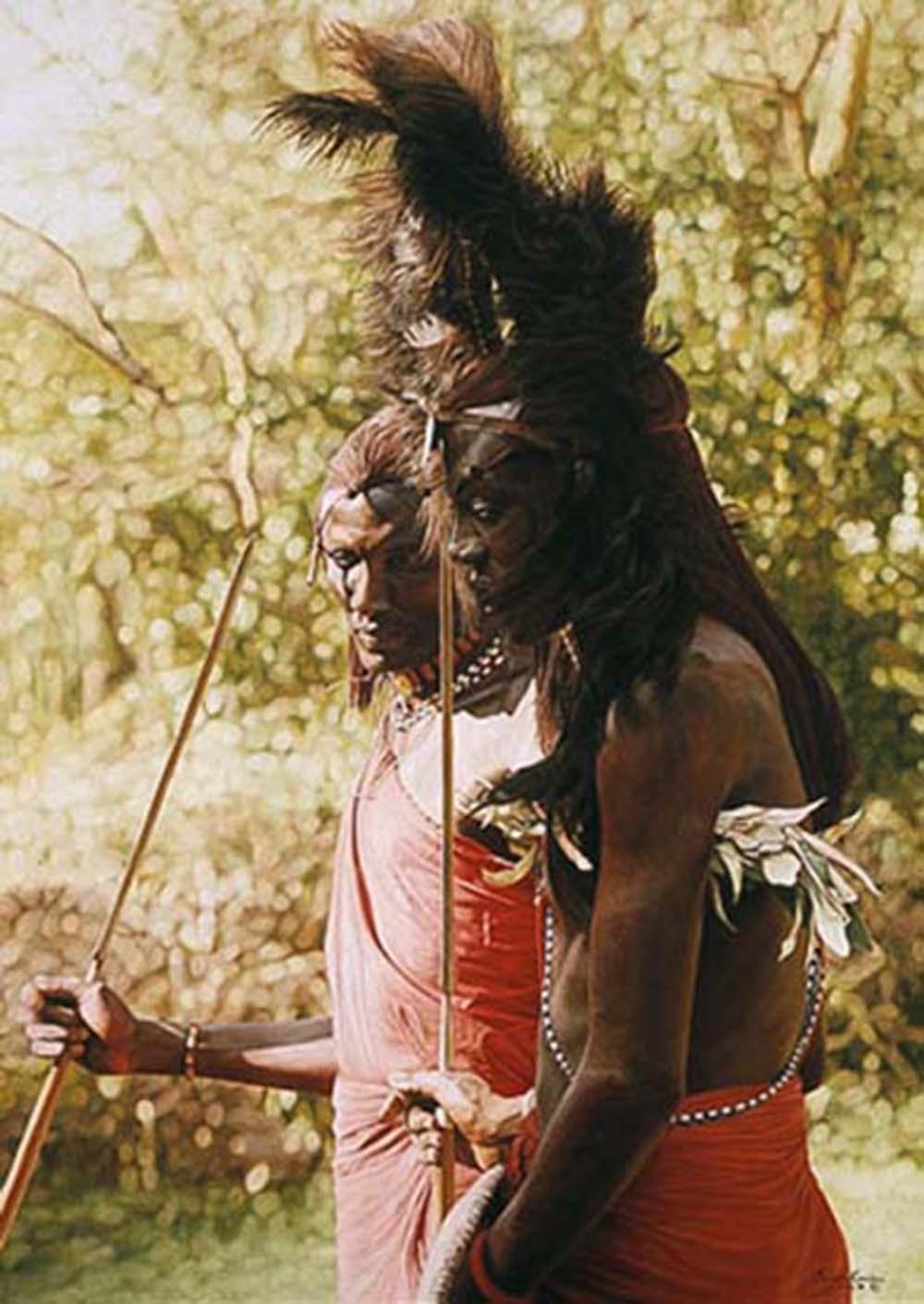 "Simon Combes' ""Masai- Longonot, Kenya"" Limited Edition Print"
