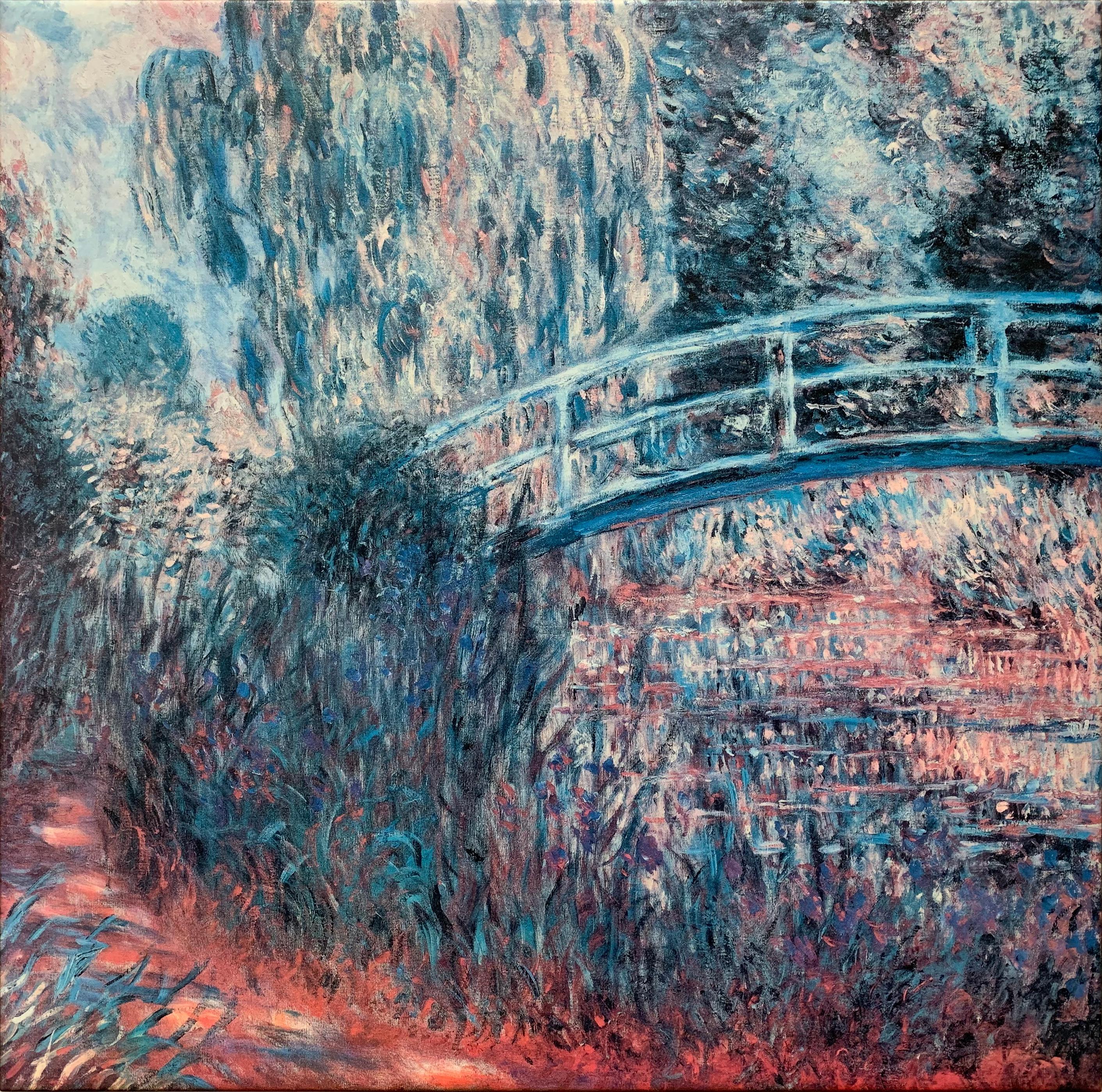 """Claude Monet's """"The Japanese Bridge"""" Canvas Reproduction"""