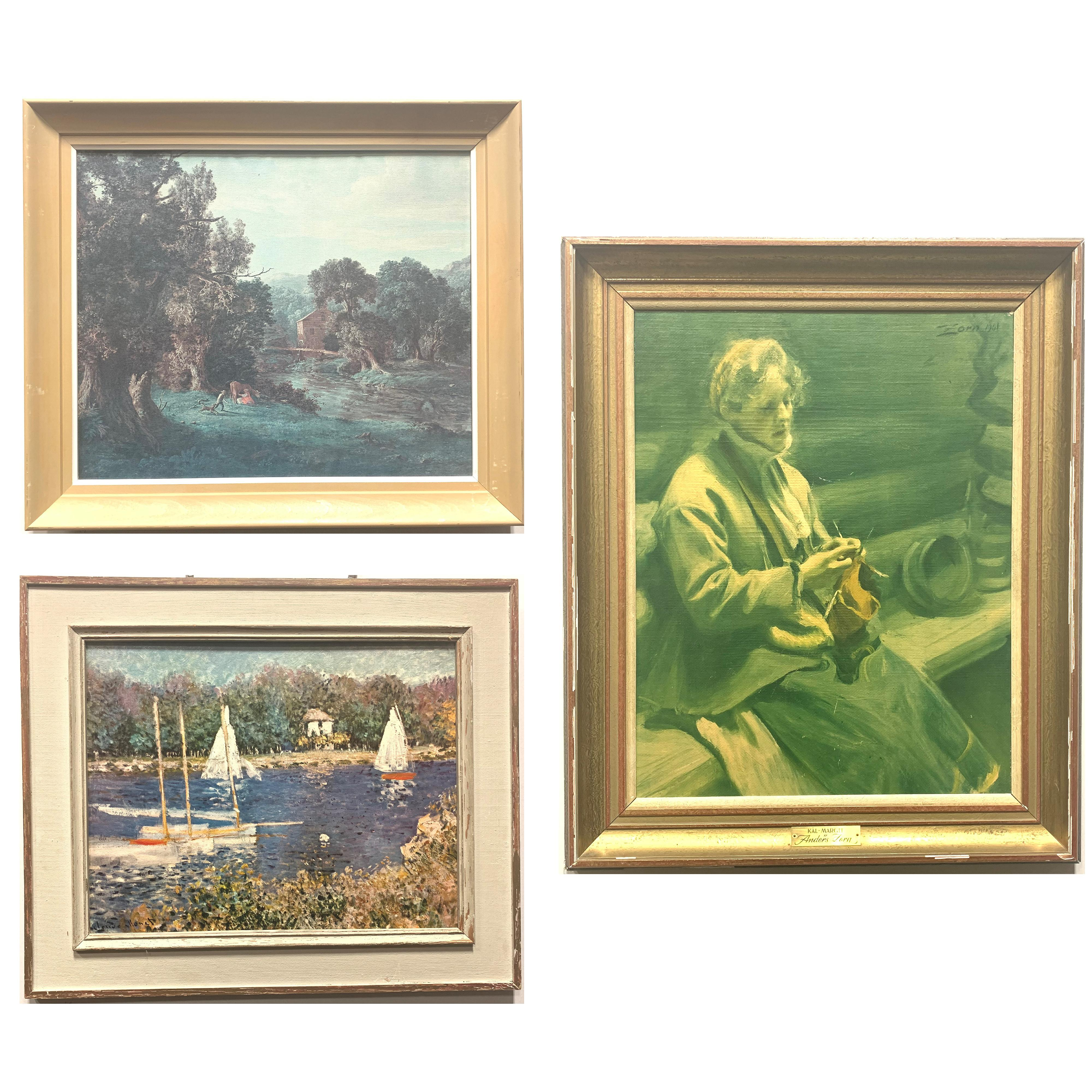 Set of 3 Pieces of Framed Art