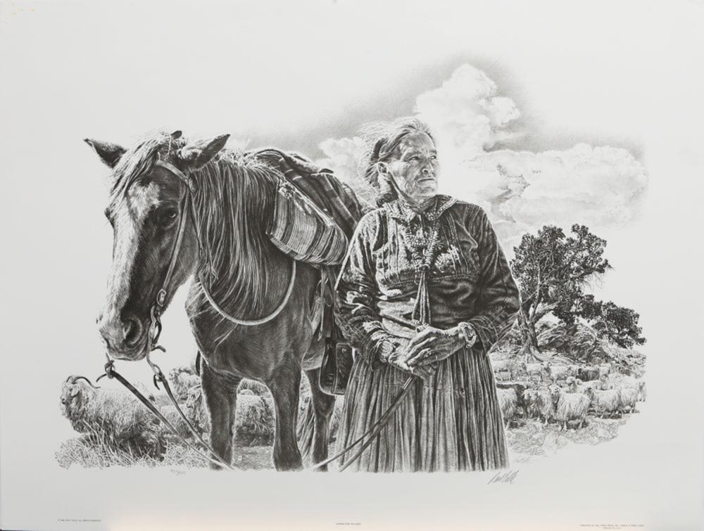 """Paul Calle's """"Caring For The Herd"""" Limited Edition Print"""