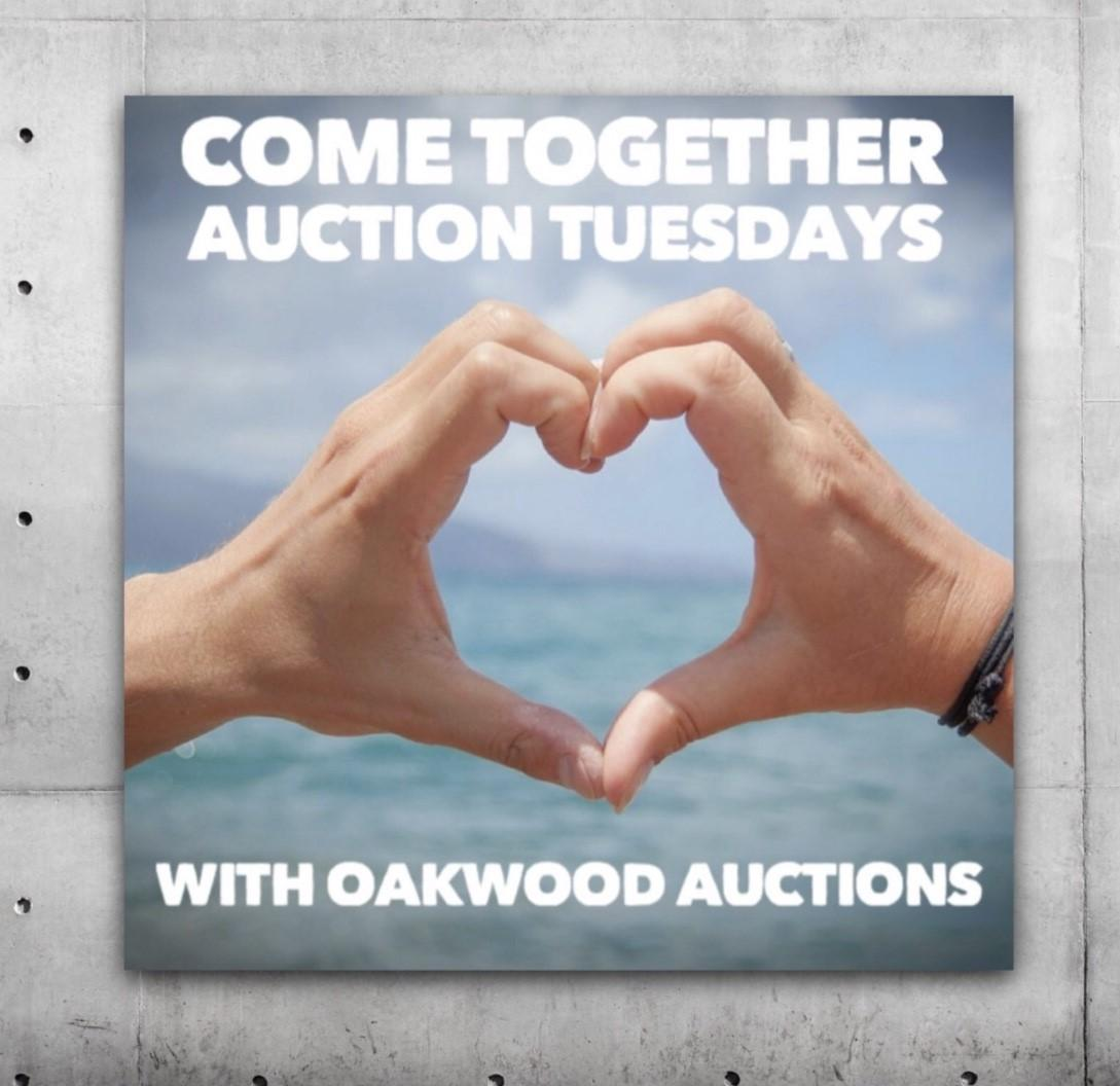 """""""Come Together Auction Tuesday"""" Mounted Poster. 100% of This Lot Donated to SickKids Hospital"""