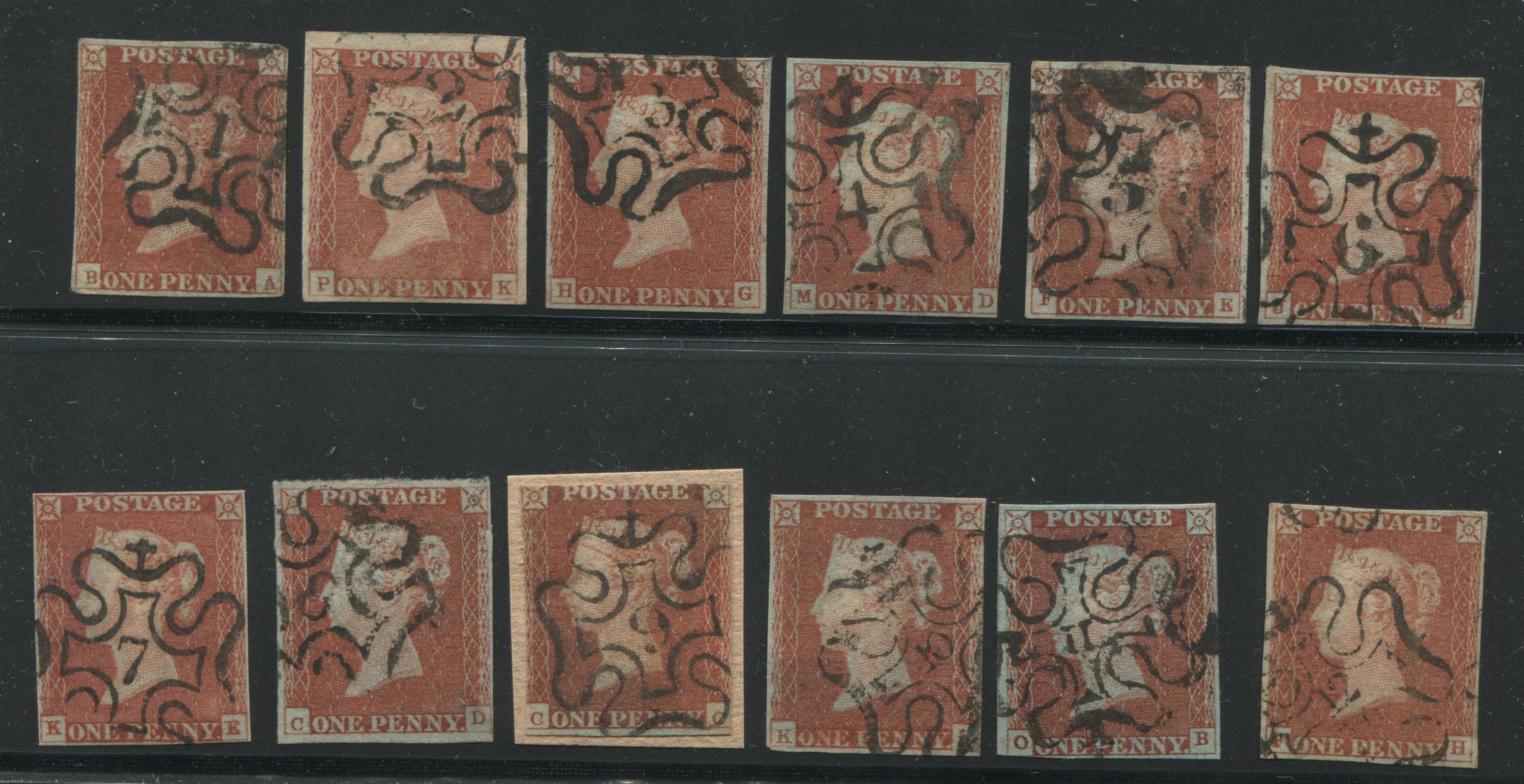 Great Britain 1841 One Penny Brown Collection