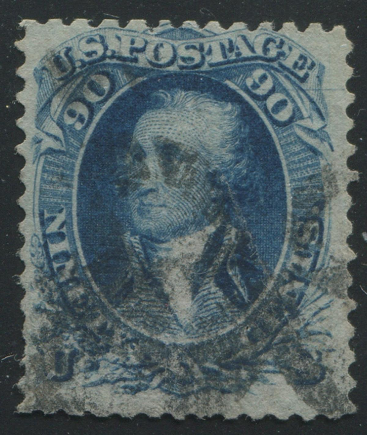 USA 1861-1866 #101 90 Cent Blue