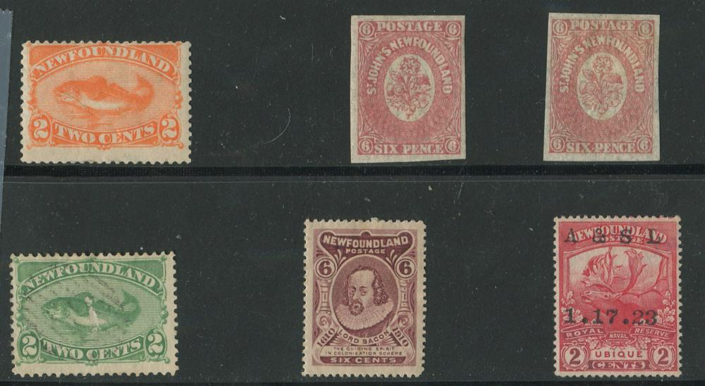 Newfoundland 1861-1919 Stamp Collection