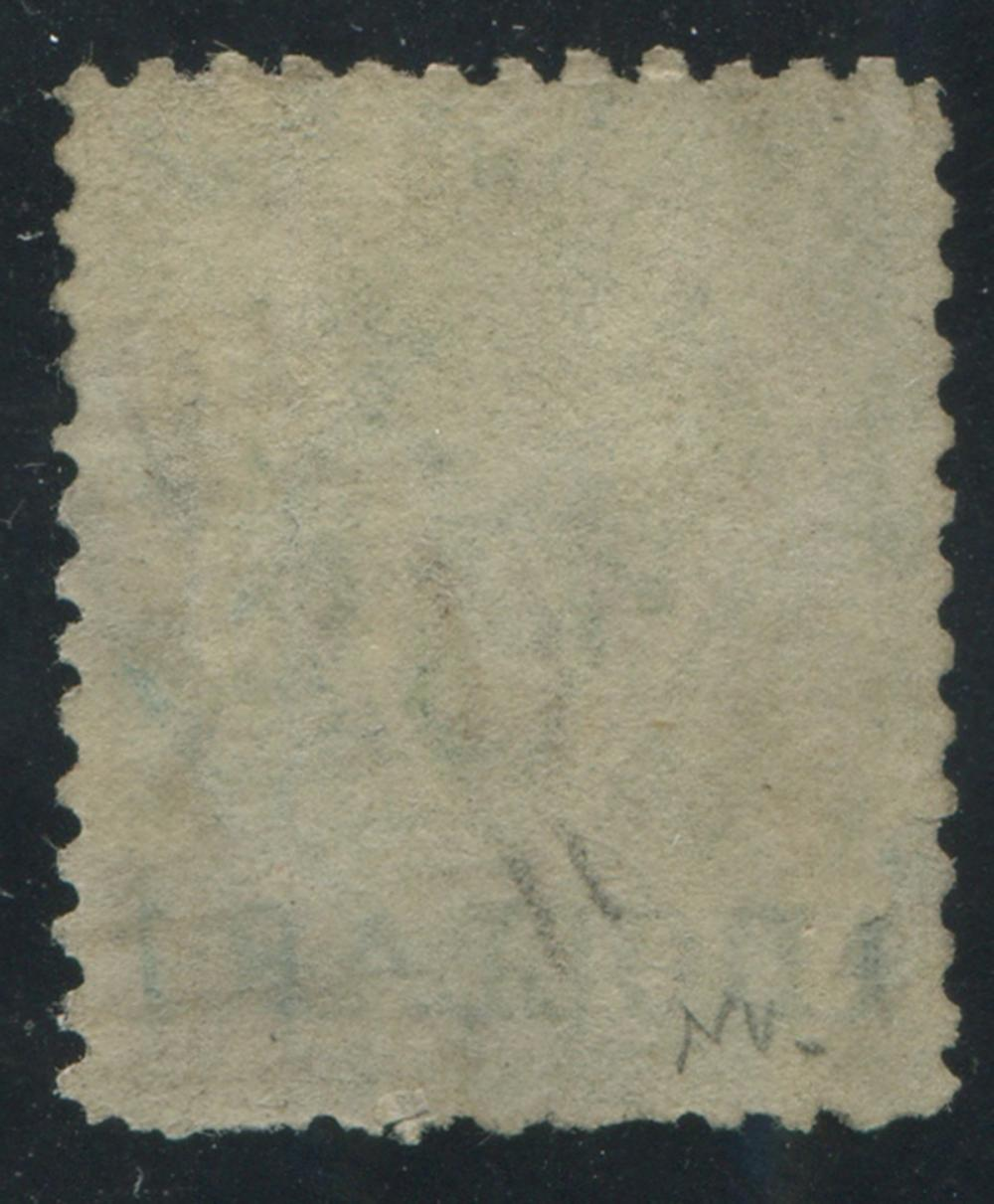 British Columbia 1869 #18 $1 on 3d Green