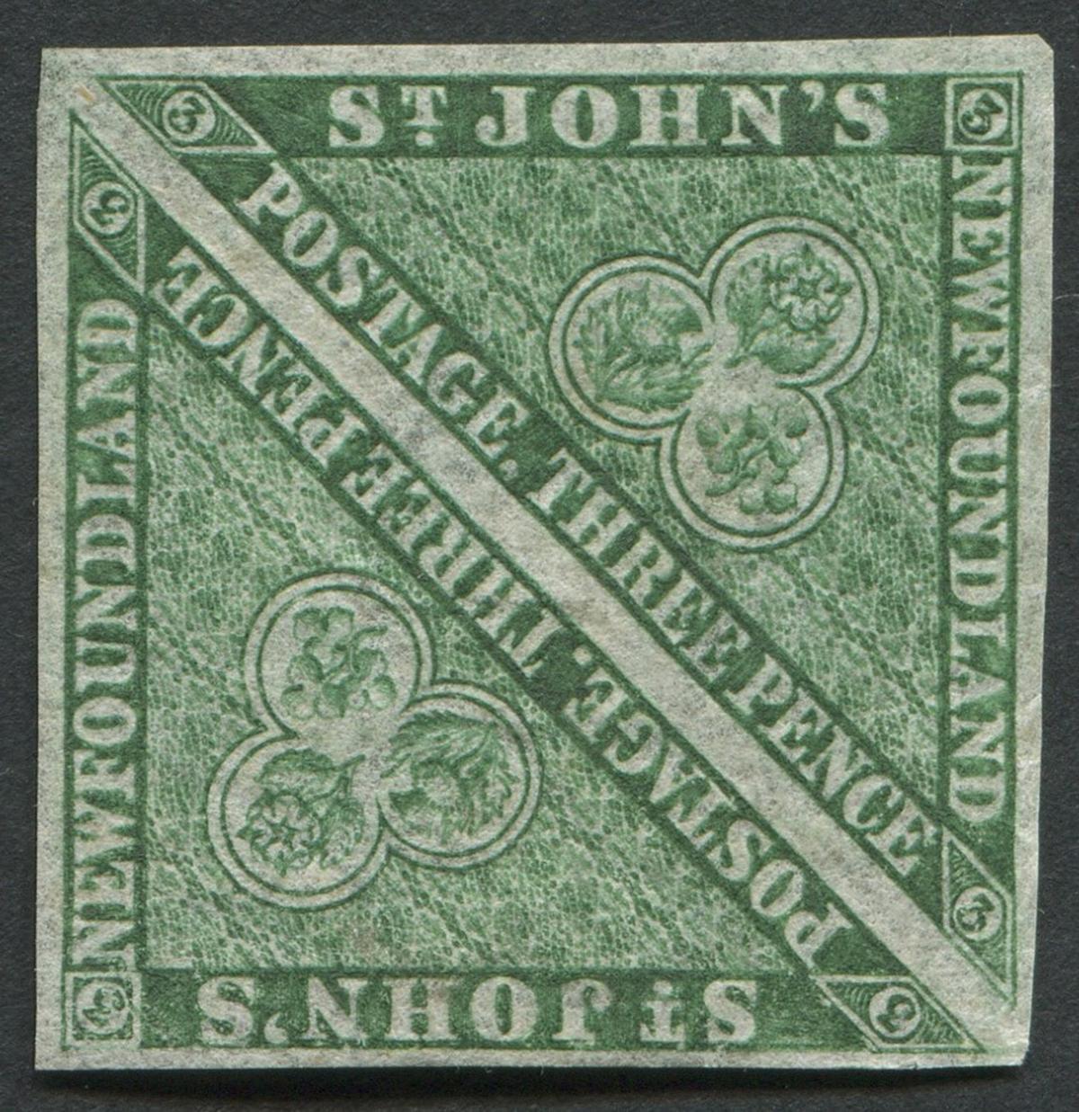 Newfoundland 1860 # 11A 3 Pence Pair VF OG