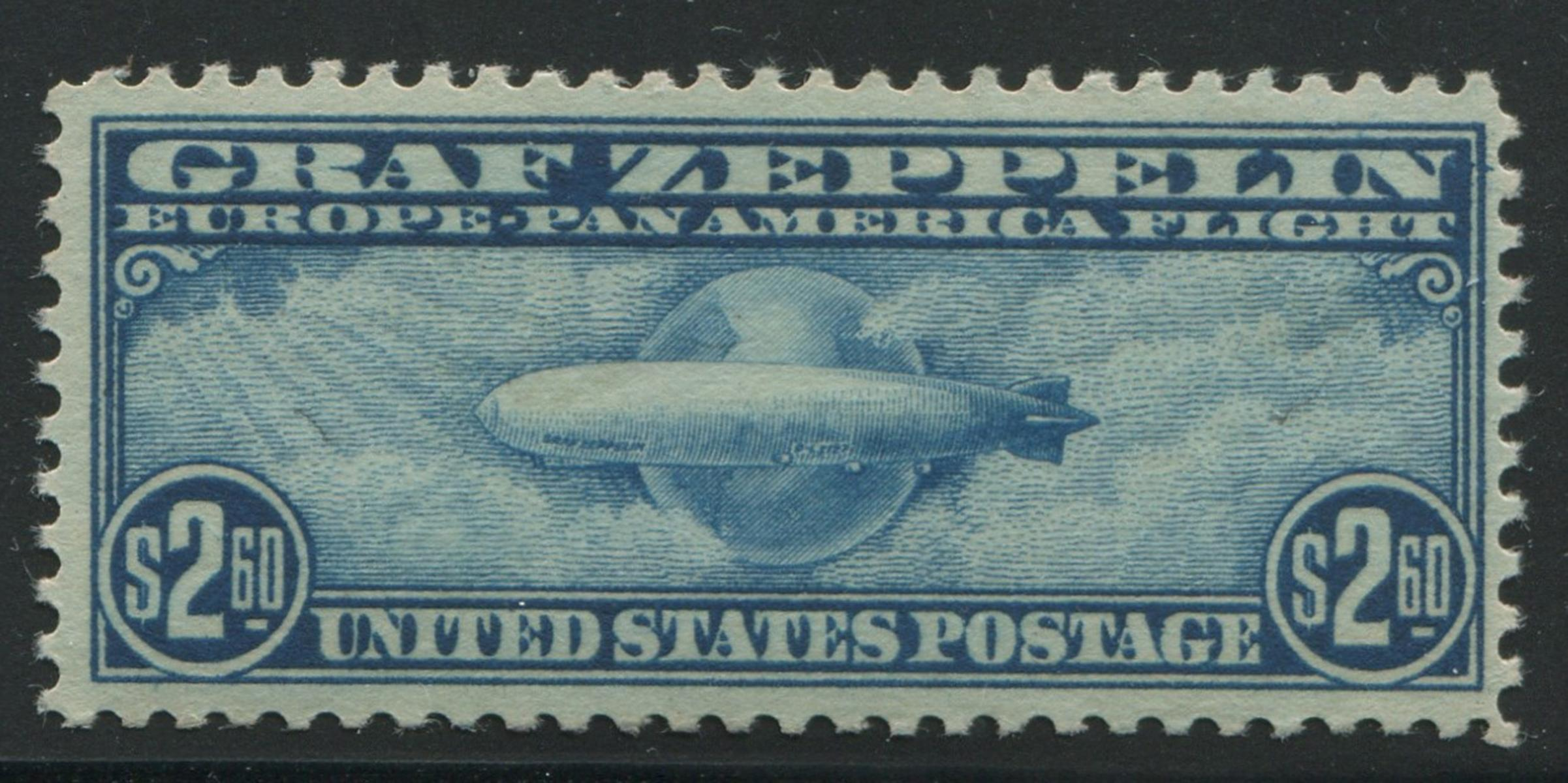 USA 1930 #C15 $2.60 Blue Zeppelin MNH