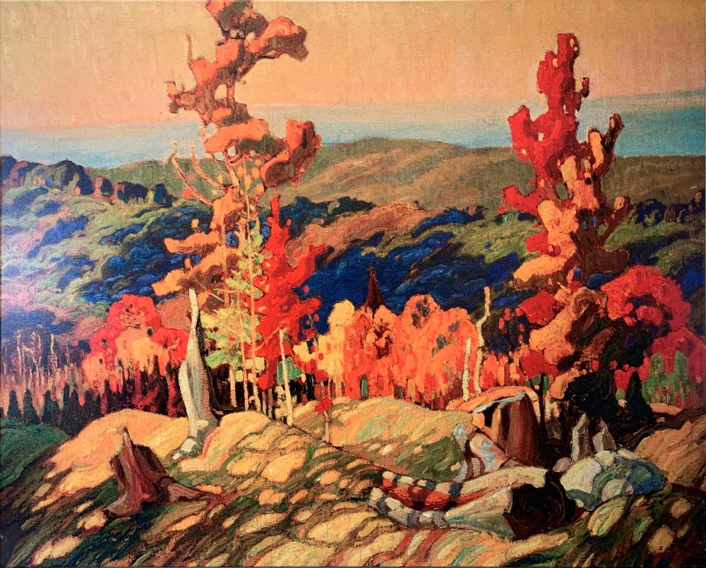 """Franklin Carmichael's """"Autumn in the Northland"""" Canvas Reproduction"""
