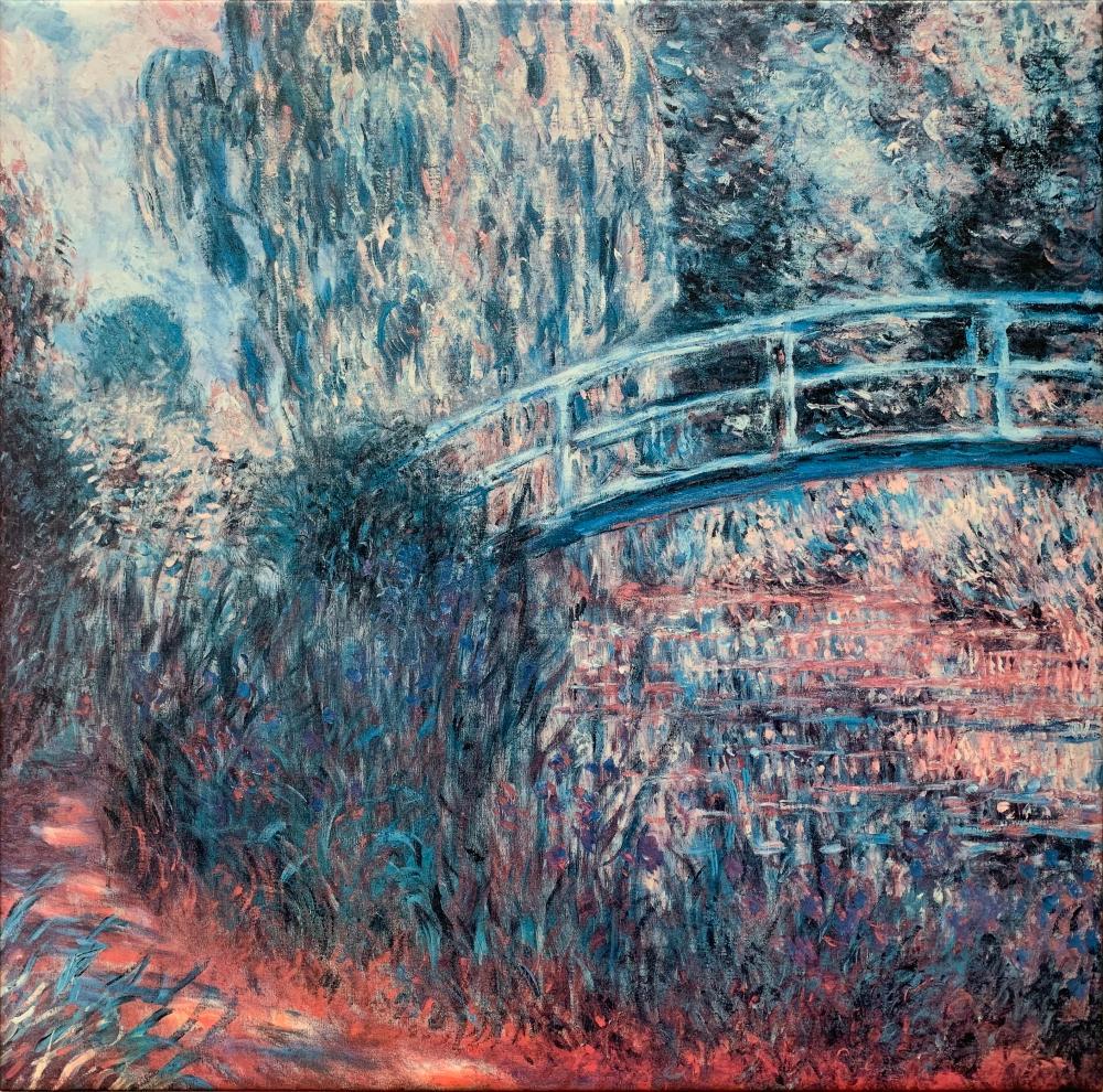 """Claude Monet's """"The Japenese Bridge"""" Canvas Reproduction"""