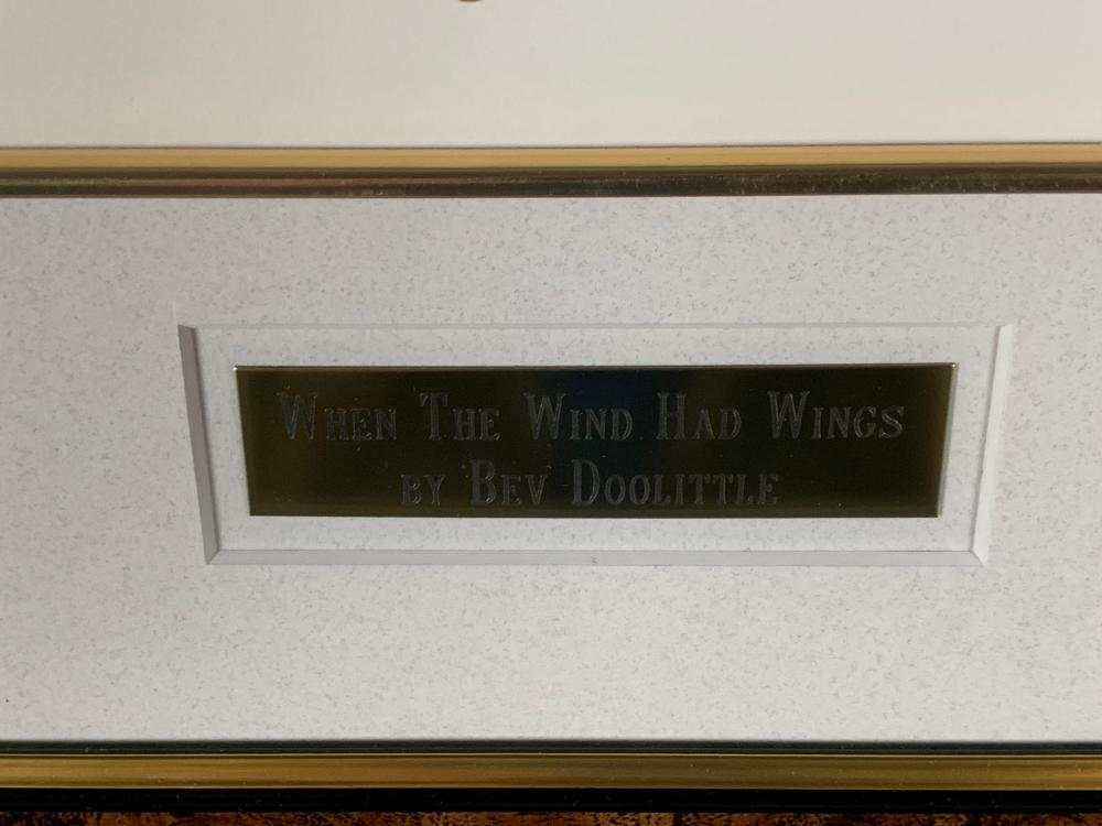 """Bev Doolittle's """"When The Wind Had Wings"""" Limited Edition Print"""