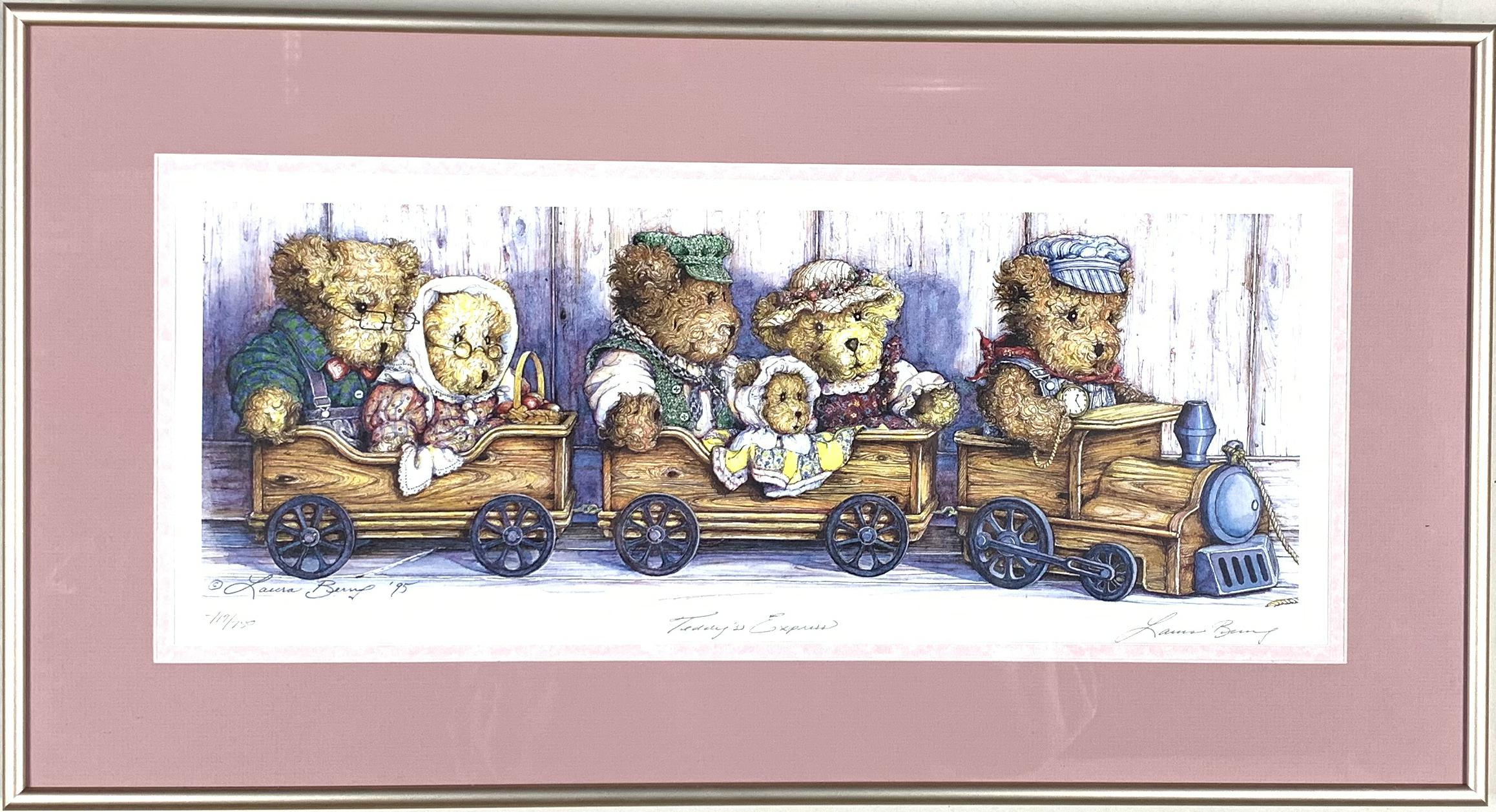 """Laura Berry's """"Teddy's Express"""" Limited Edition Print"""