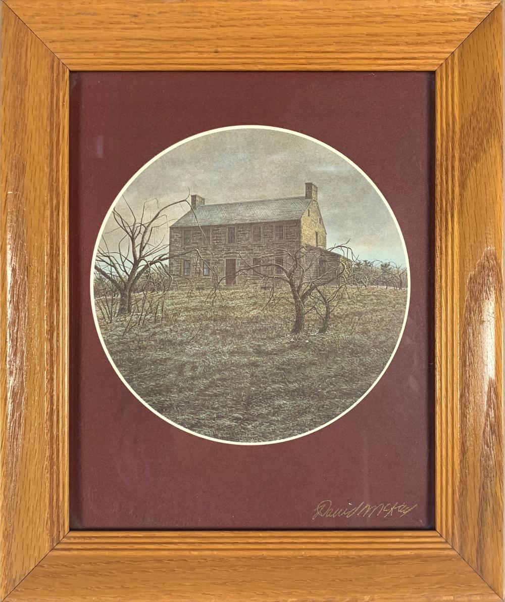 David McKay Brick House Framed Print