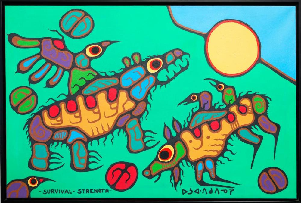 "Norval Morrisseau's ""Survival - Strength"" Original"