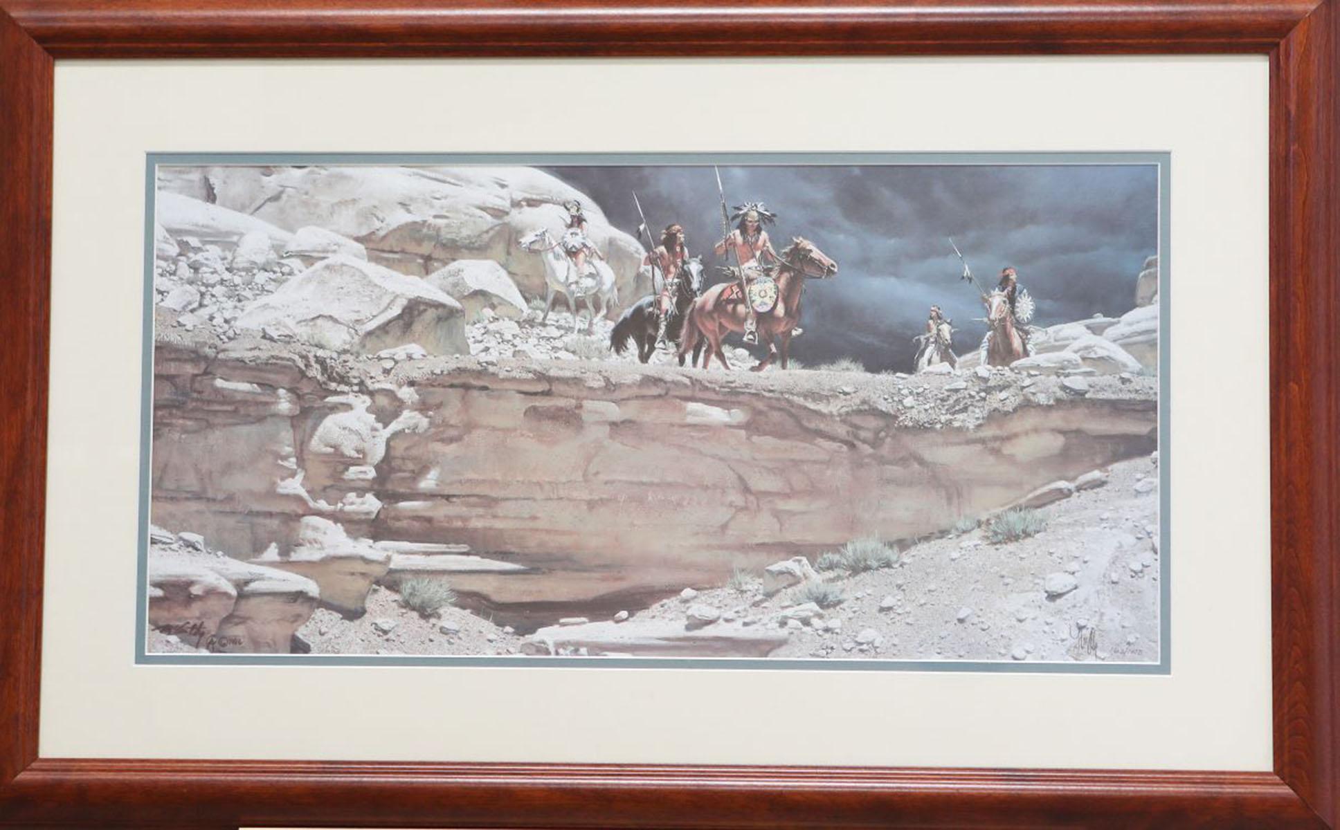 "Frank McCarthy's ""The Hostile Land"" Limited Edition Framed Print"