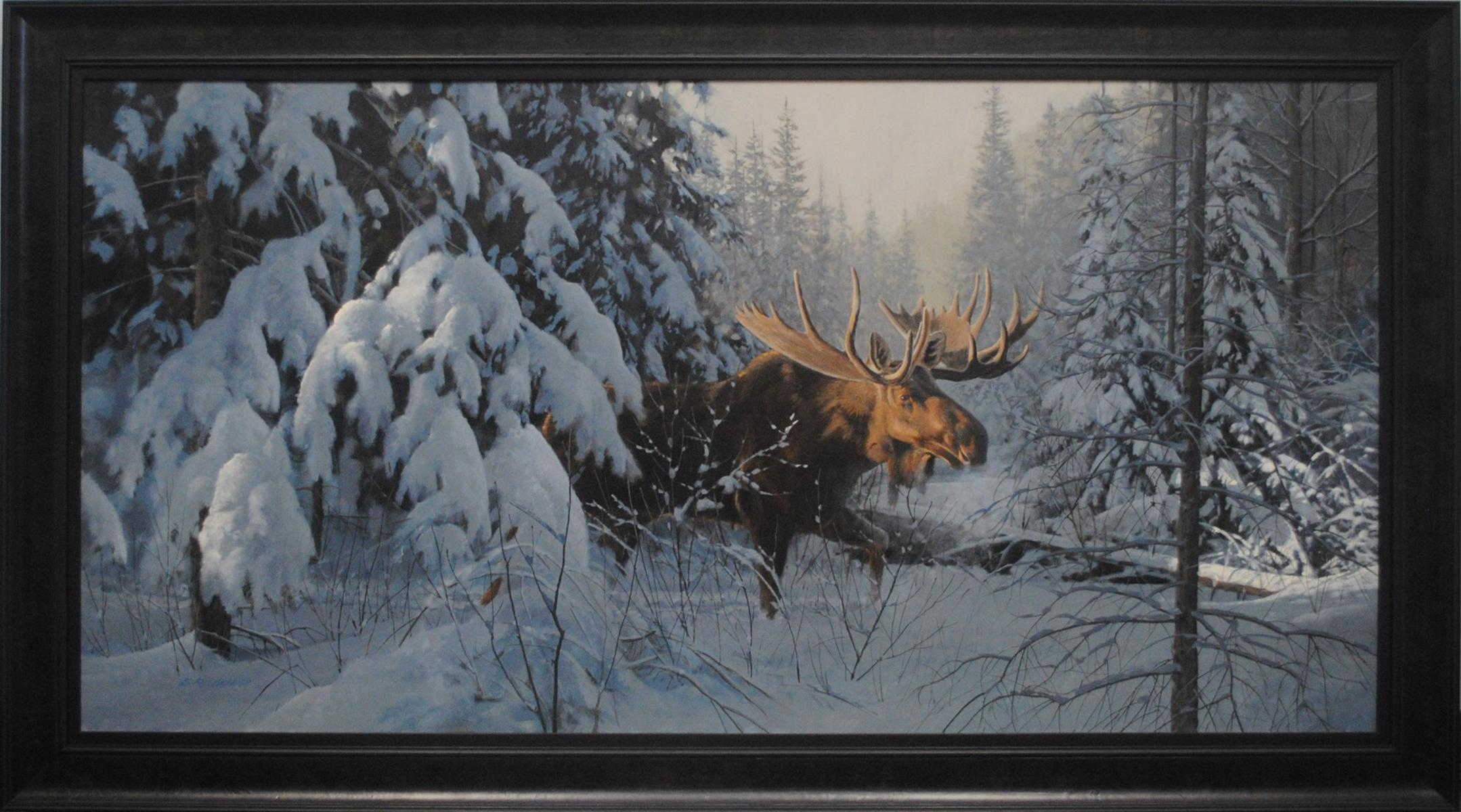 "Doug Laird's ""Moose in Winter"" Original"