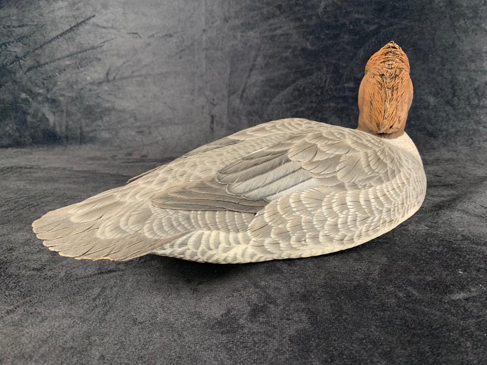 "Jason Lucio's ""Mergansers"" Original Hand Carved Duck Decoy Pair"