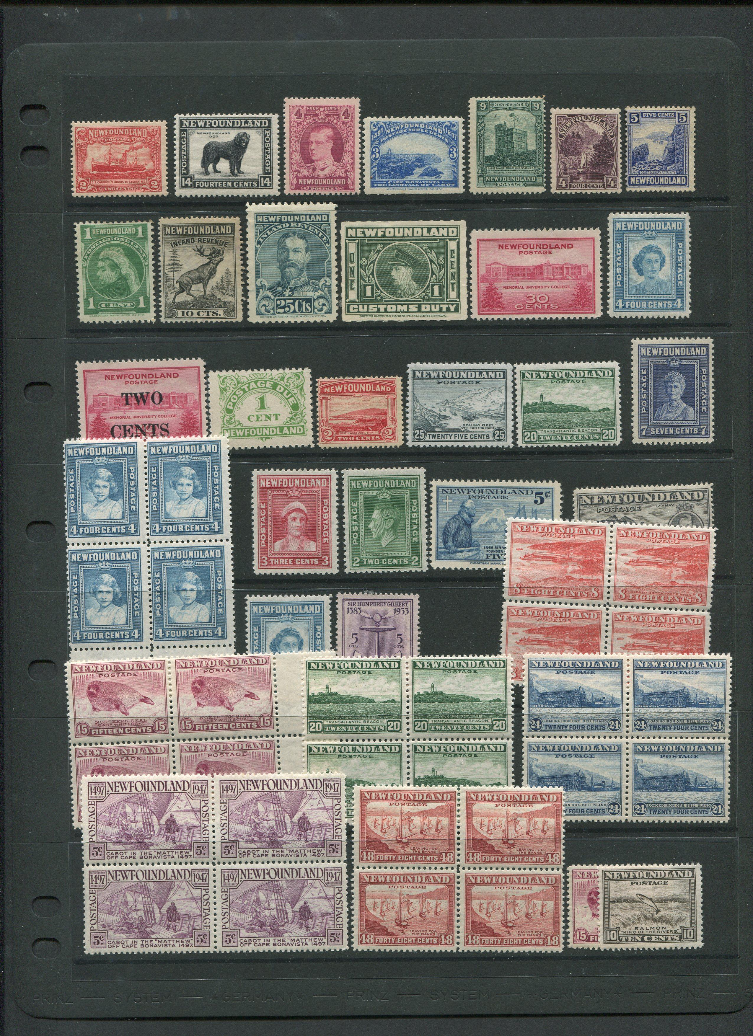 Canada Newfoundland Mint Stamp Collection