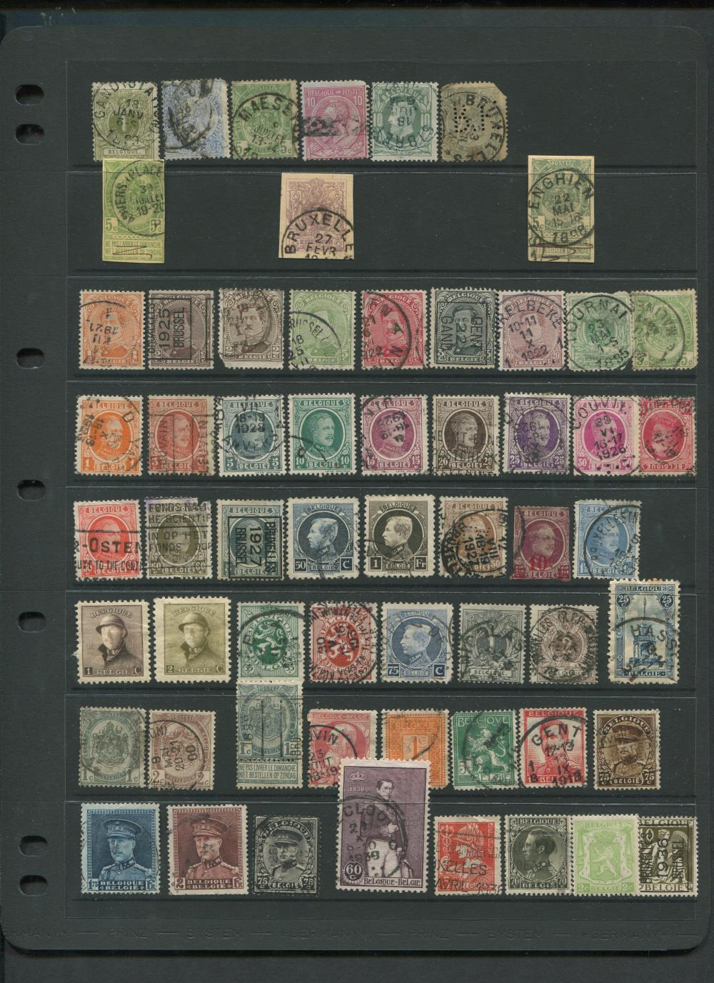 Belgium Stamp Collection From 1869