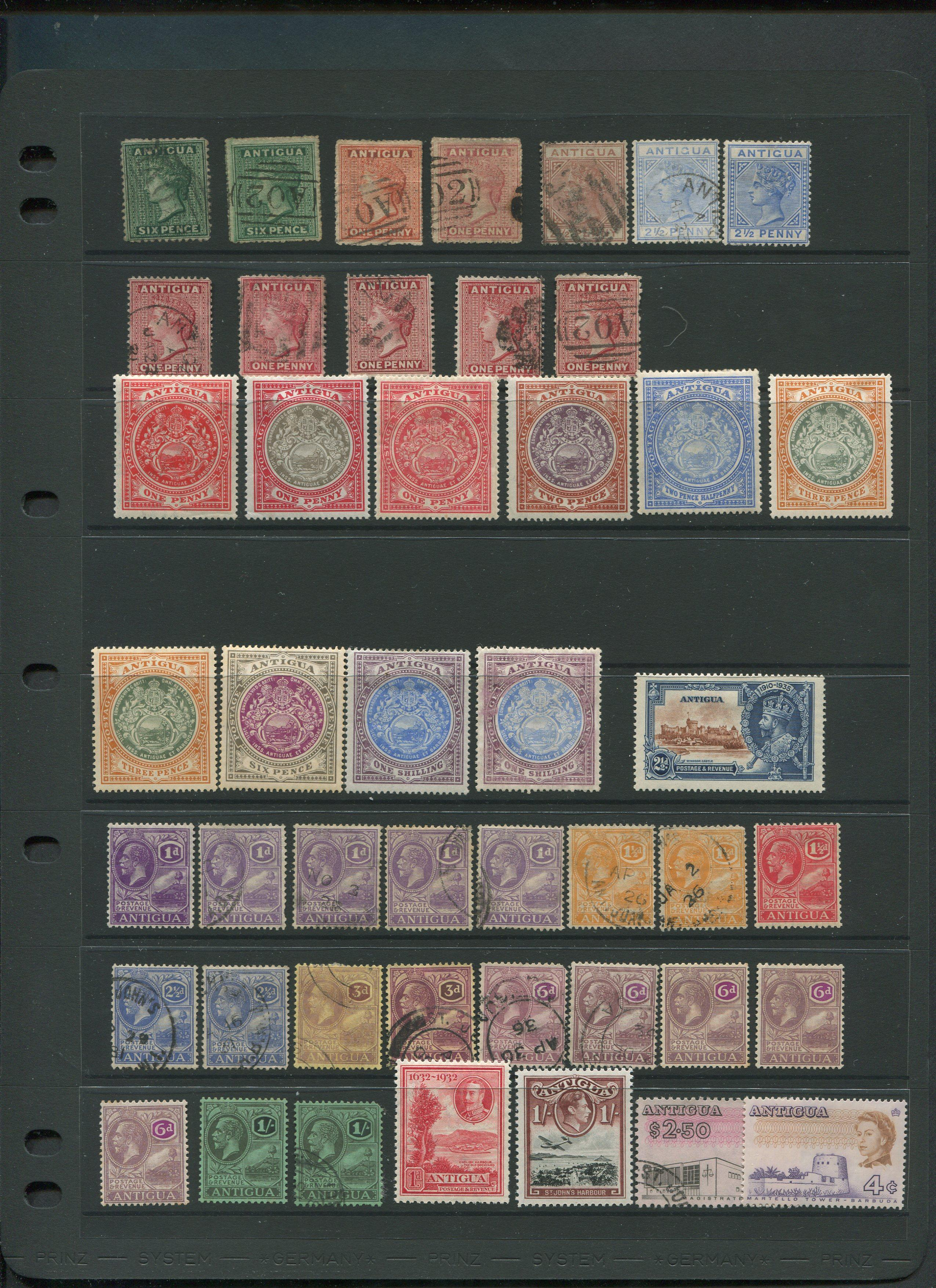 Antigua Stamp Collection From 1862