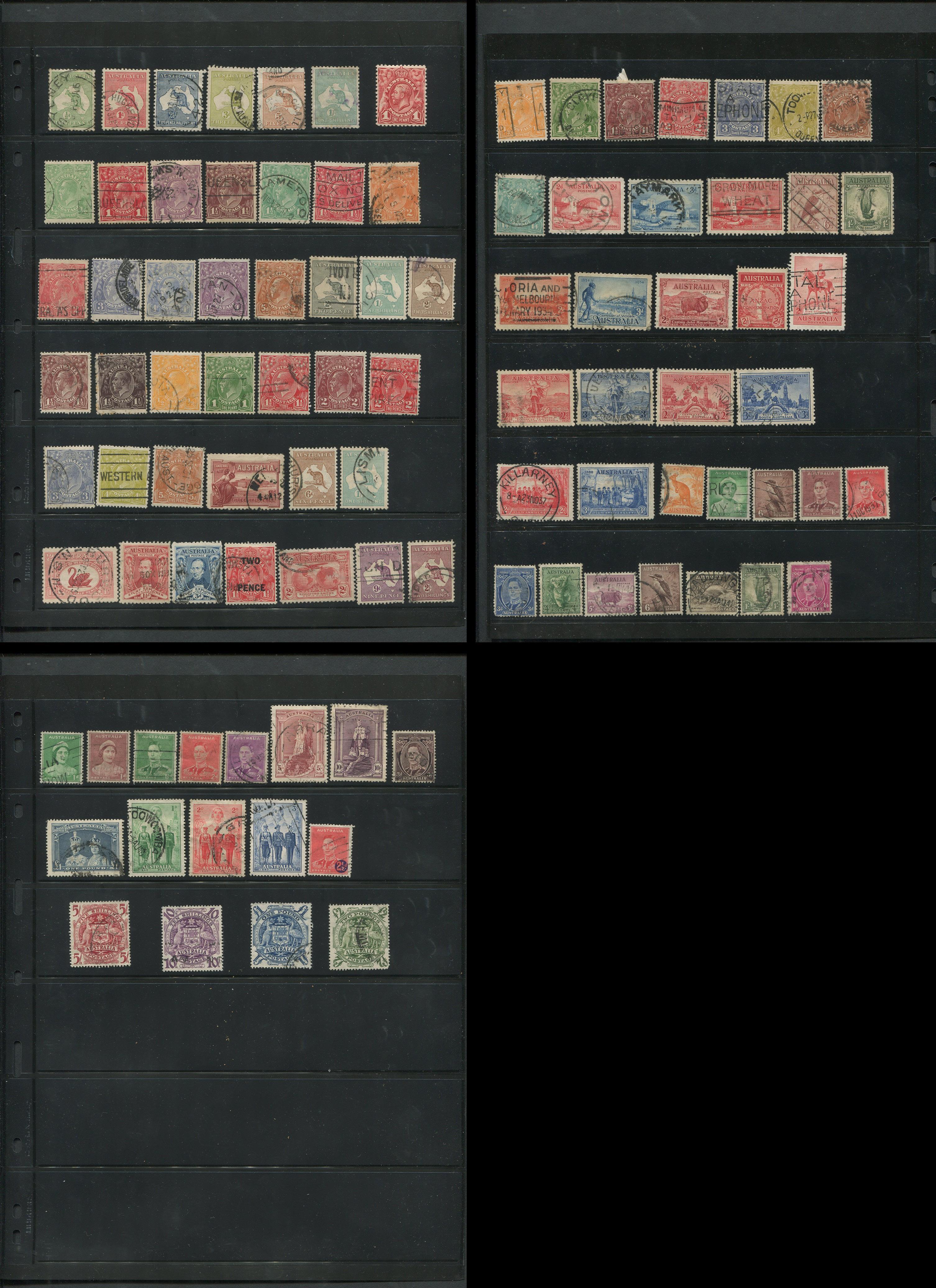 Australia 1913-49 Stamp Collection