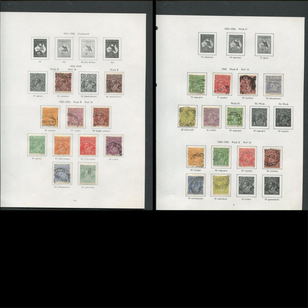 Australia 1913-76 Stamp Collection