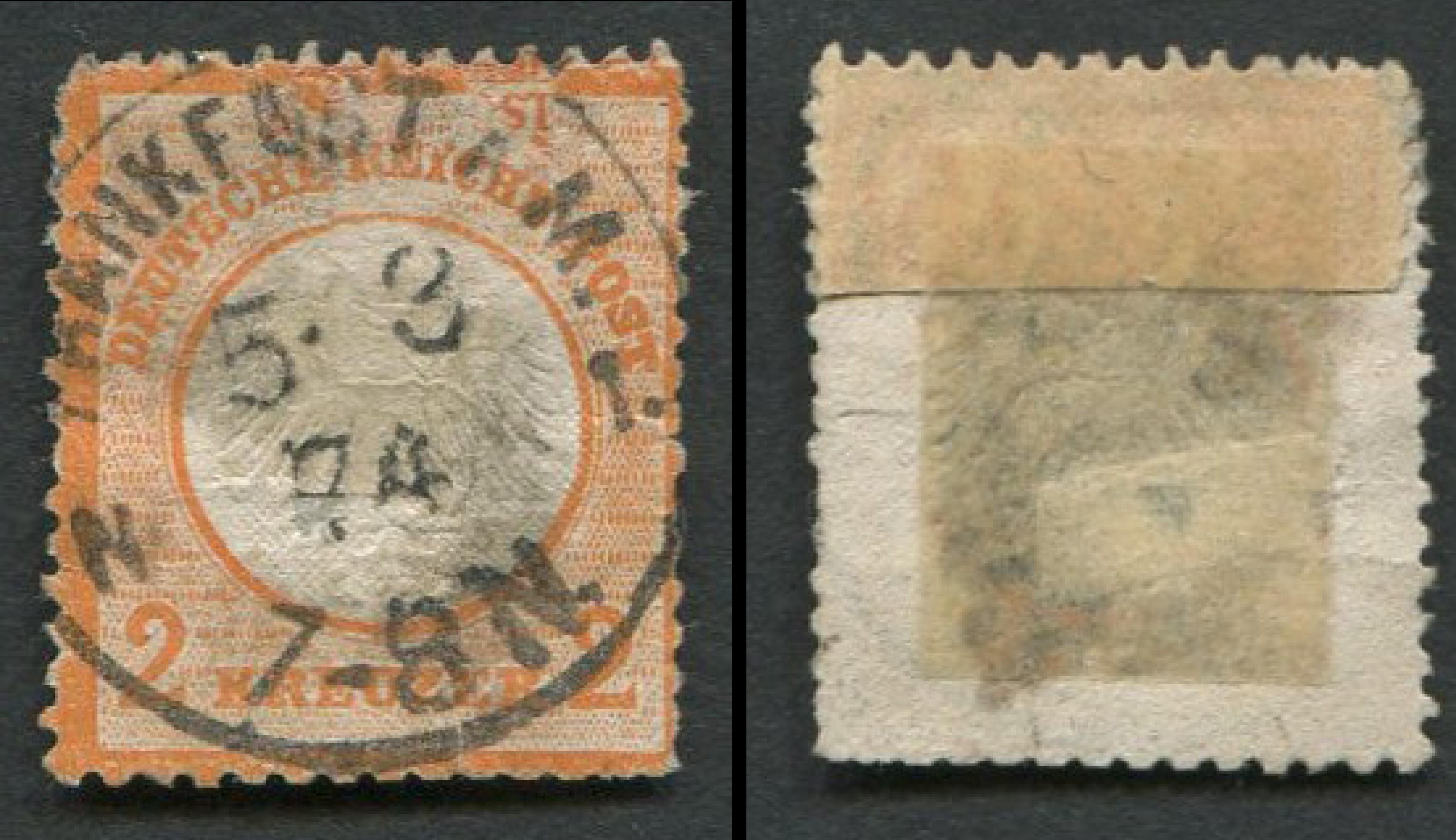 Germany 1872 #22 a4 2kr Orange RARE