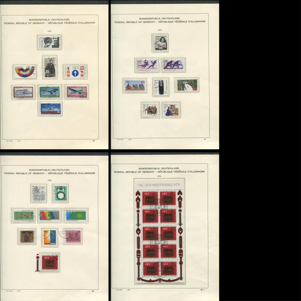 Germany 1977-80 Stamp Collection