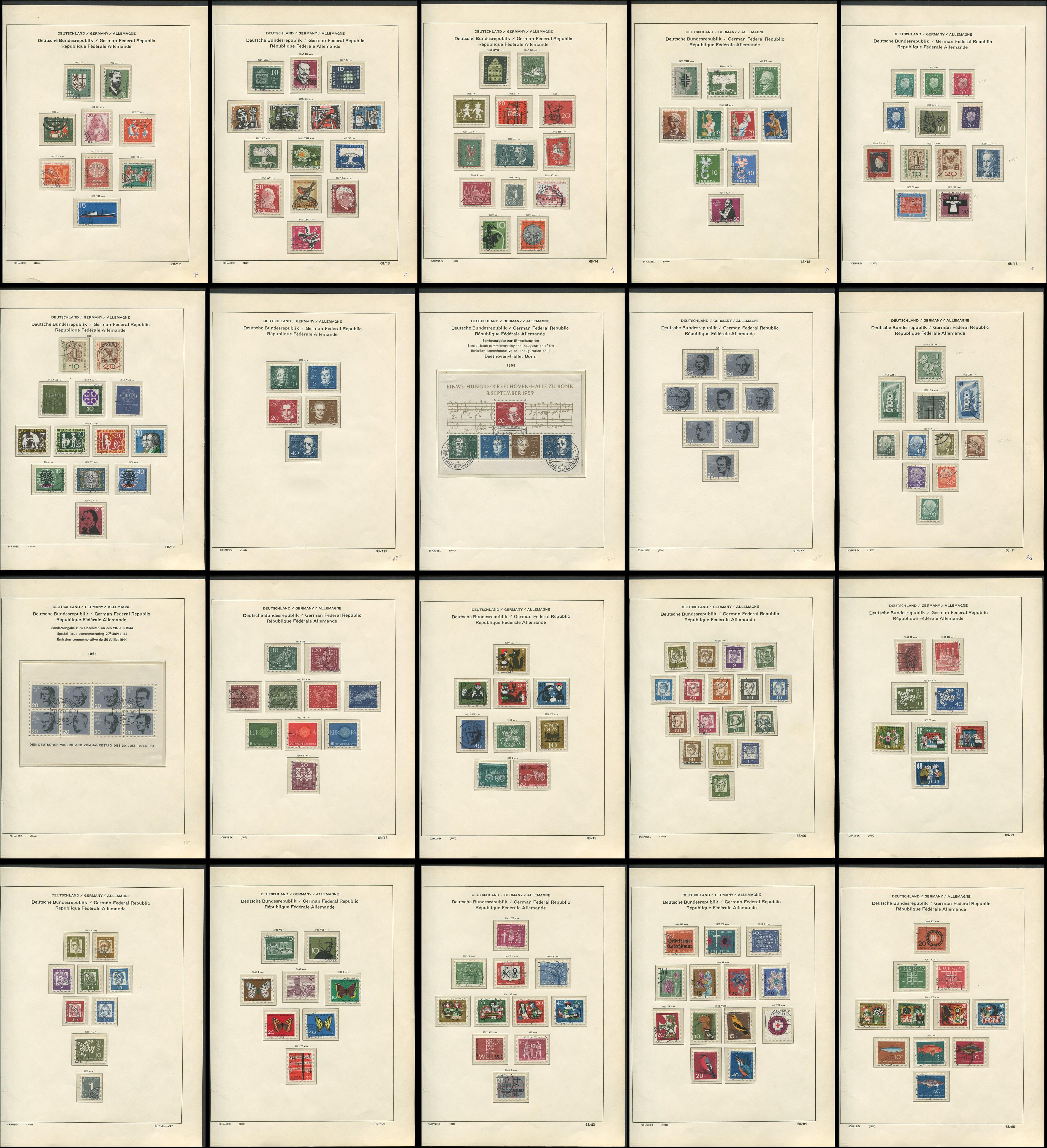 Germany 1957-64 Stamp Collection