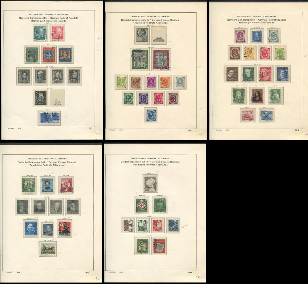 Germany 1949-53 Stamp Collection