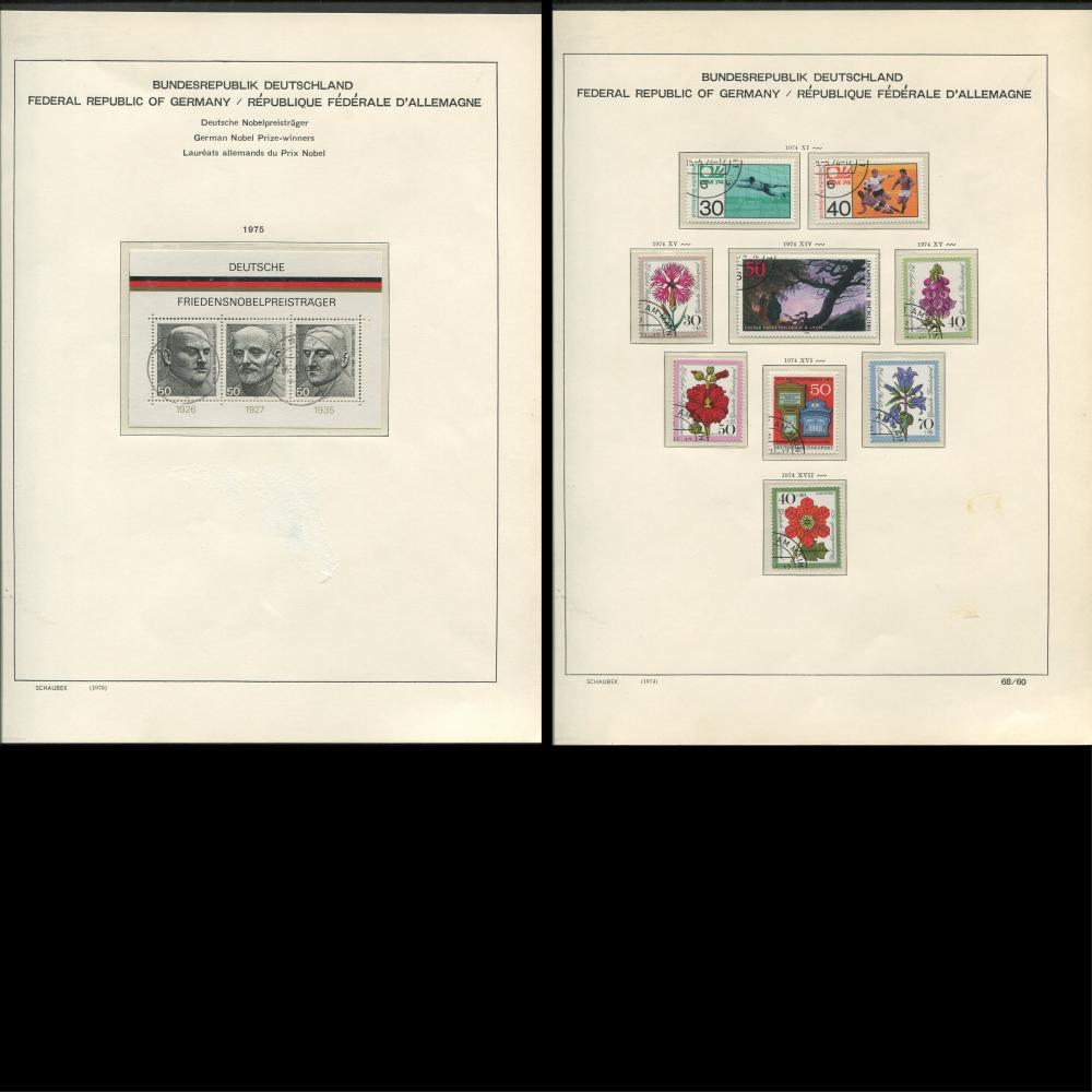 Germany 1974-77 Stamp Collection