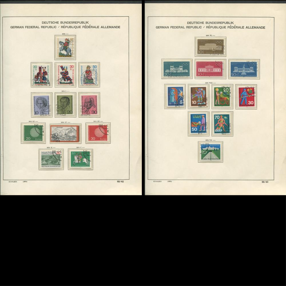 Germany 1970-73 Stamp Collection