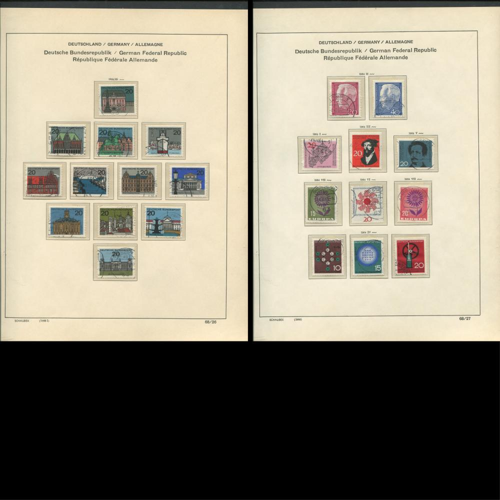 Germany 1964-69 Stamp Collection