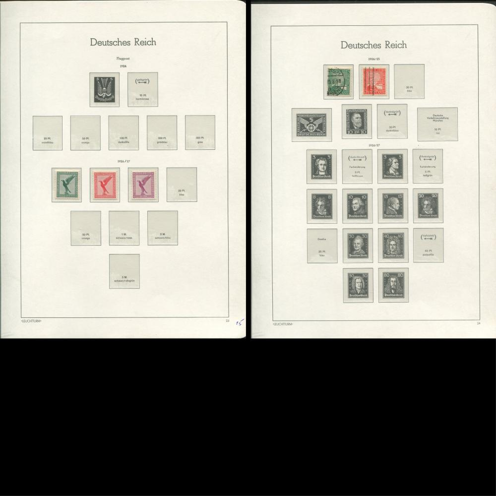 Germany 1922-27 Stamp Collection