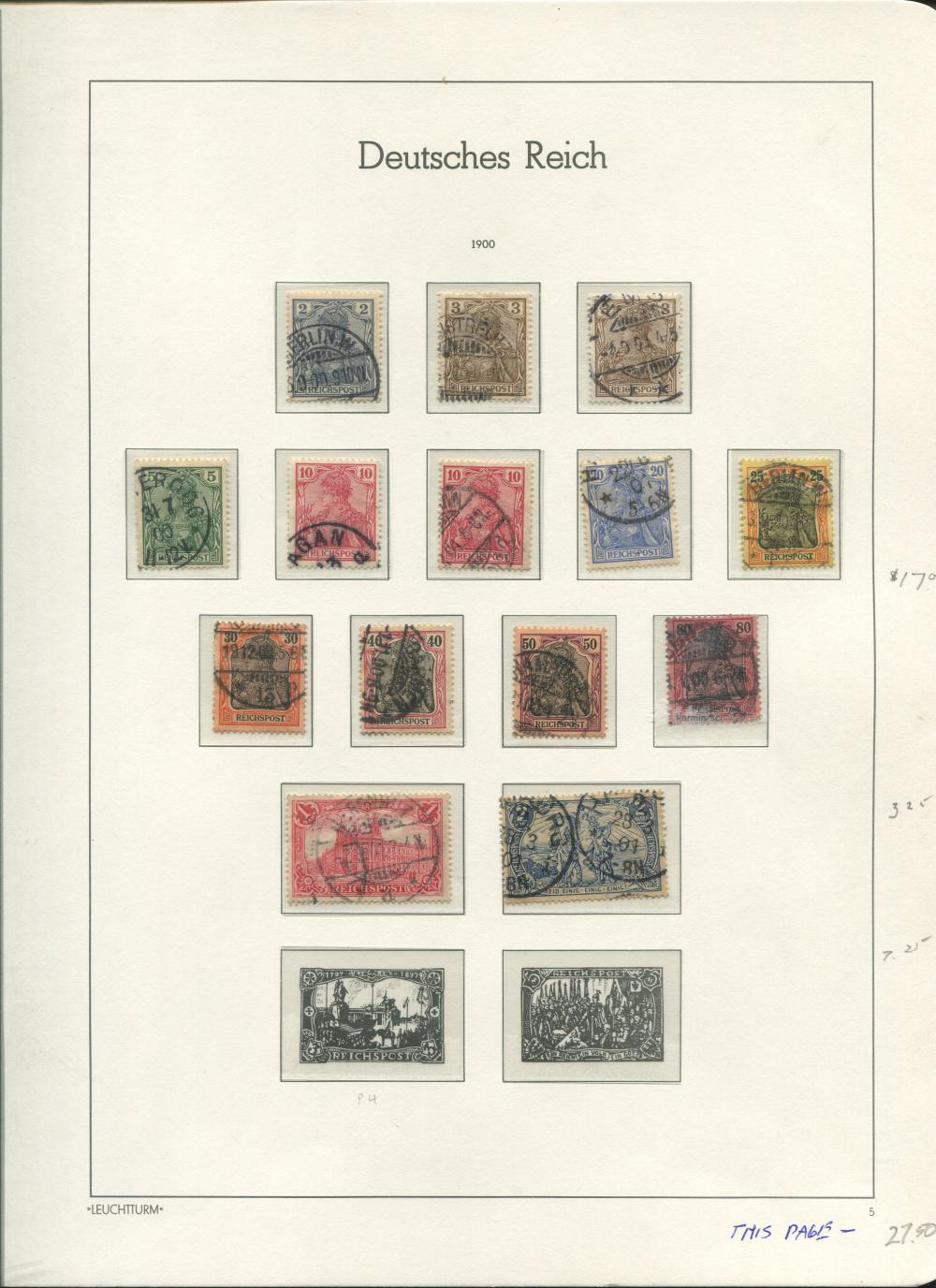Germany 1900-02 Stamp Collection