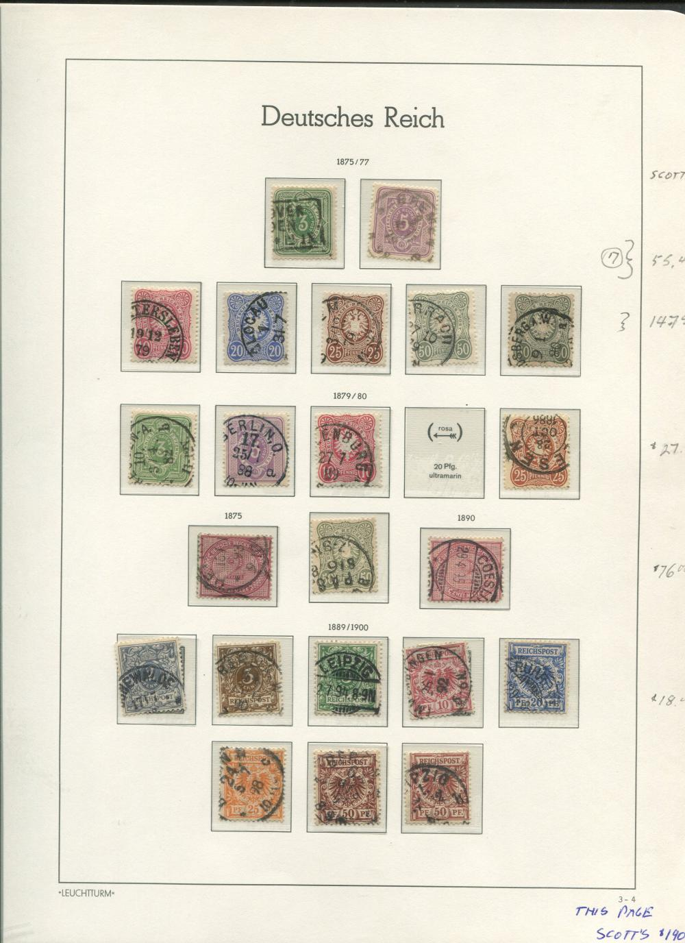 Germany 1875-1900 Stamp Collection