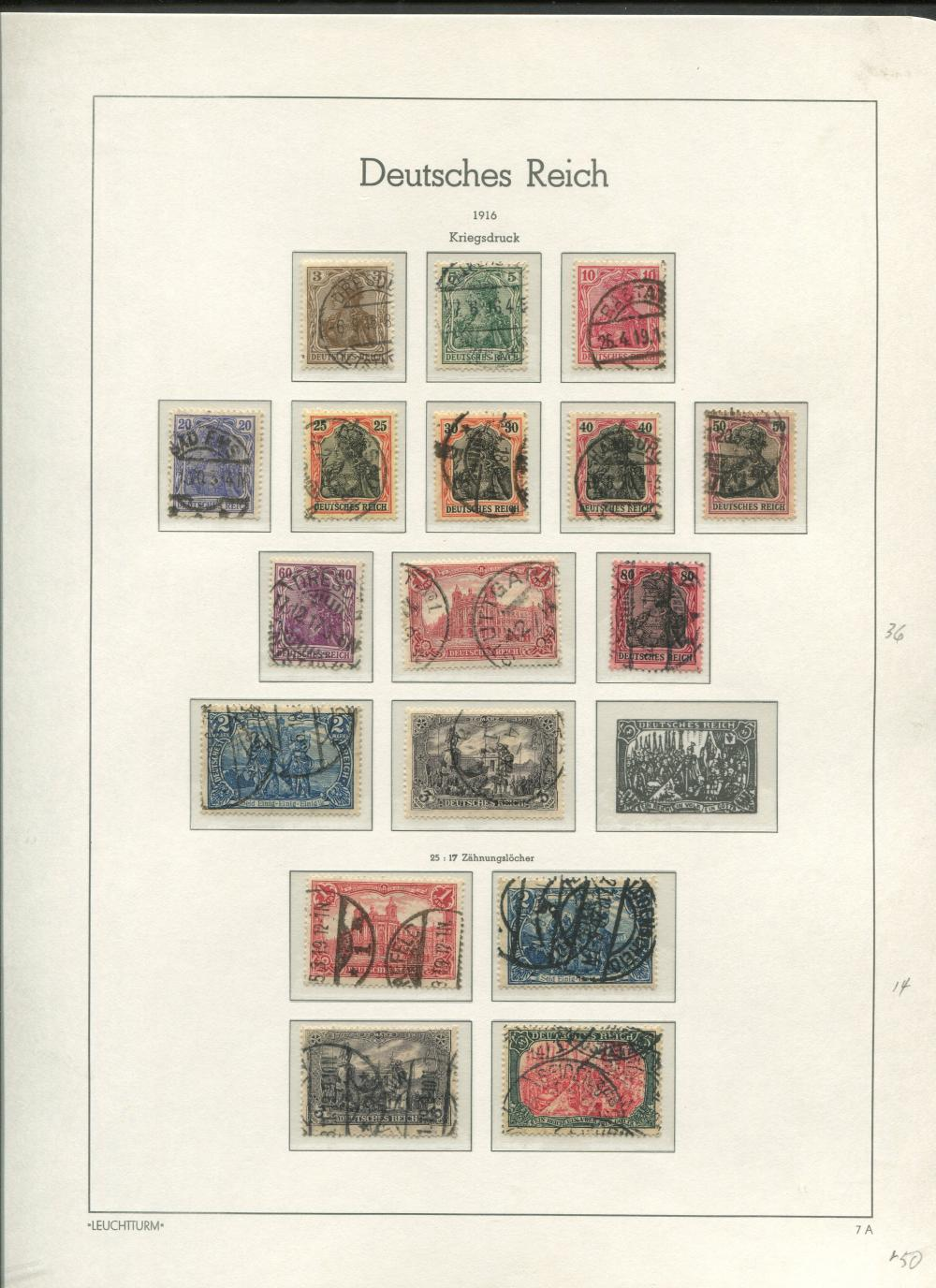 Germany 1905-19 Stamp Collection