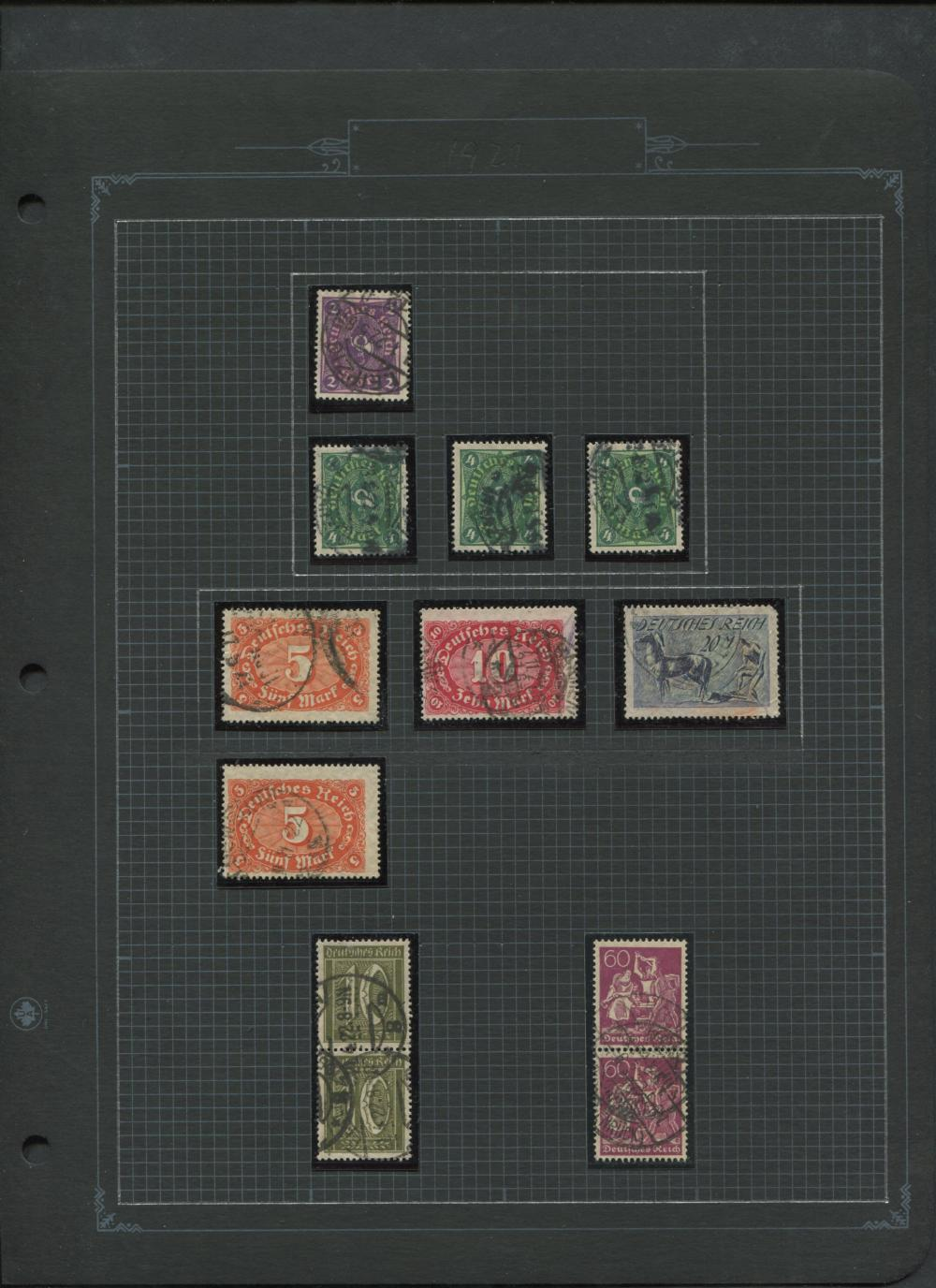 Germany 1920- Stamp Collection
