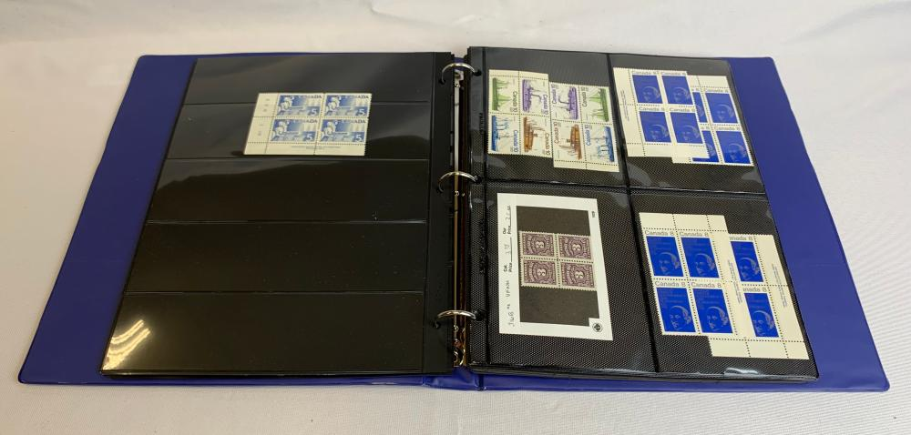 Canada Blocks, Corner Blocks, Panes & Booklets Collection
