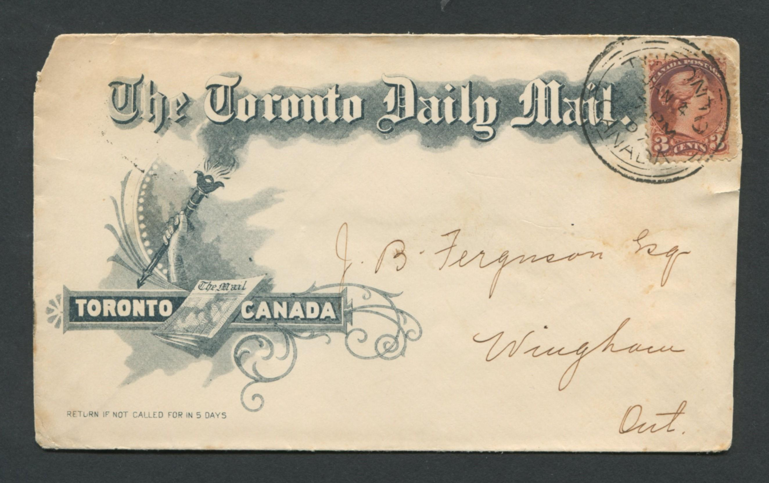 Canada Advertising Stamp Cover RARE